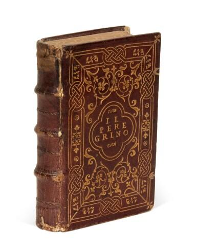 View 1. Thumbnail of Lot 54. Atanagi, De le lettere facete, 1561; Achilles Tatius, Amorosi ragionamenti, 1546, contemporary Roman binding.
