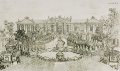 View 4. Thumbnail of Lot 362. A SET OF TWENTY PRINTS OF PALACES, PAVILIONS AND GARDENS AT YUANMING YUAN | 巴黎、1977年 《郎世寧圓明園西洋樓》 一組二十幅 水墨紙本.