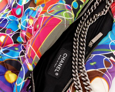 View 4. Thumbnail of Lot 35. 'Kaleidoscope' printed silk shoulder bag.