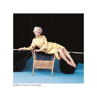 MILTON GREENE   MARILYN MONROE (GOLD DRESS), 1954