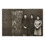 HELEN LEVITT | THREE YOUNG WOMEN AGAINST WALL WITH CHALK DRAWING