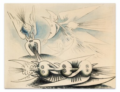 View 1. Thumbnail of Lot 34. WIFREDO LAM | SANS TITRE.