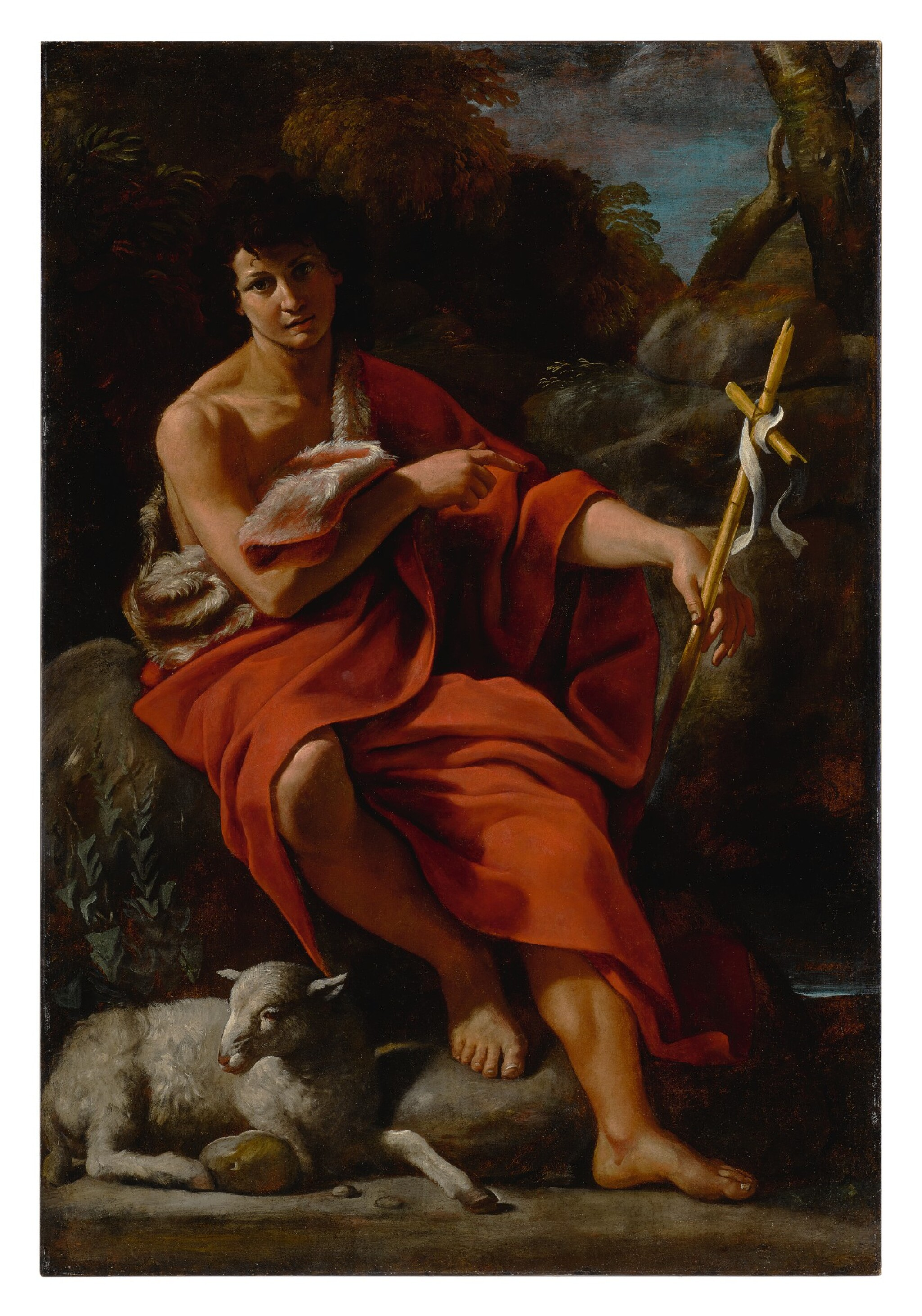 View full screen - View 1 of Lot 584. Saint John the Baptist in the wilderness.