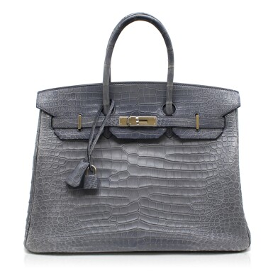 HERMÈS | PETROL BIRKIN 35 IN MATTE POROSUS CROCODILE WITH PALLADIUM HARDWARE, 2008