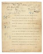 WORLD WAR I--GOSCHEN | typescript document to Von Jagow, the German Foreign Minister, 4 August 1914