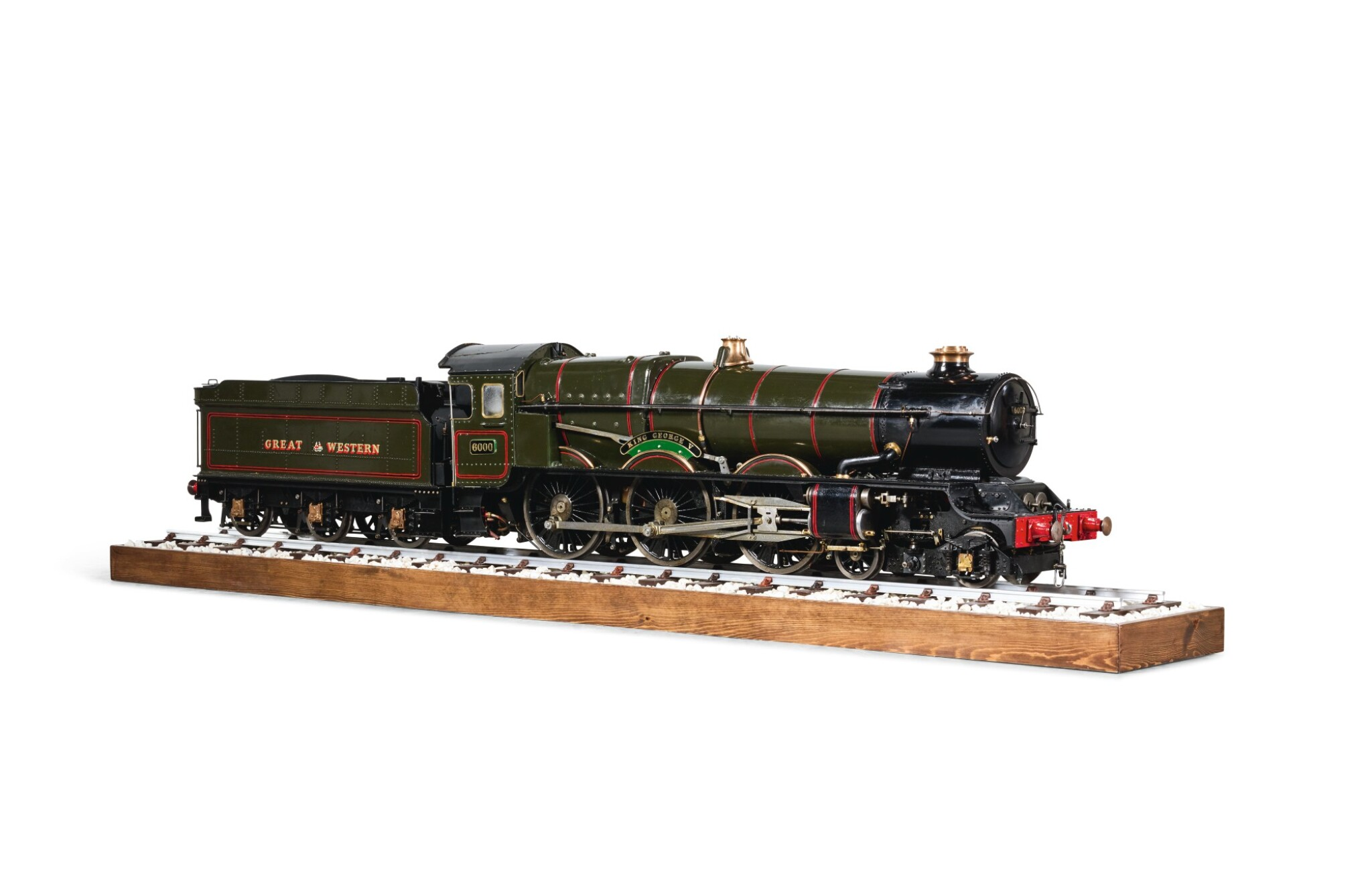 "View 1 of Lot 92. 5 inch gauge Great Western Railway, Class 4-6-0 ""King George V"" No. 6000."