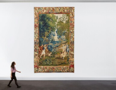 View 4. Thumbnail of Lot 91. A Flemish mythological tapestry, Brussels or Antwerp workshop, circa 1700-1720, possibly from the Story of Diana, after designs by Louis van Schoor and Pieter Spierinckx.