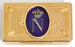A JEWELLED GOLD AND ENAMEL PRESENTATION SNUFF BOX, PROBABLY GERMAN, CIRCA 1860