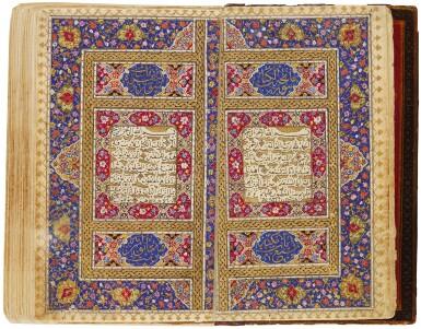 AN ILLUMINATED MINIATURE QUR'AN IN FITTED BOX, PERSIA, QAJAR, FIRST HALF 19TH CENTURY