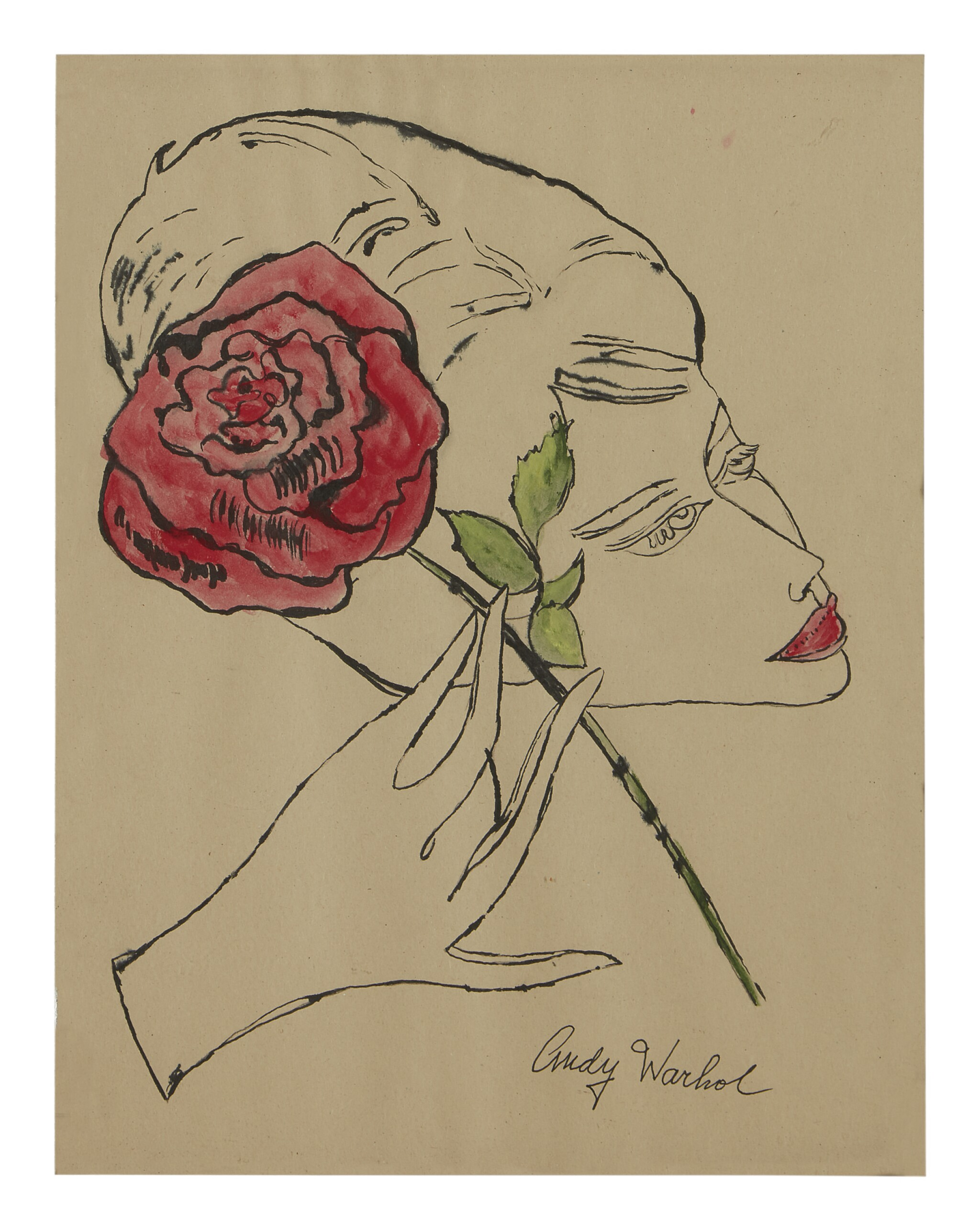 View full screen - View 1 of Lot 408. ANDY WARHOL | FEMALE HEAD.