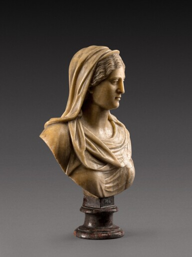 View 3. Thumbnail of Lot 158. Italian, 18th century | Bust of a Vestal Virgin.