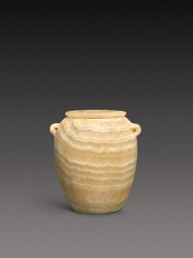 View 1. Thumbnail of Lot 51. An Egyptian Alabaster Jar, Predynastic Period (Nagada II)/1st Dynasty, circa 3500-2900 B.C..