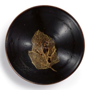 View 1. Thumbnail of Lot 109. A SUPERB JIZHOU BLACK-GLAZED 'LEAF' BOWL SOUTHERN SONG DYNASTY | 南宋 吉州窰黑釉木葉天目茶盞.