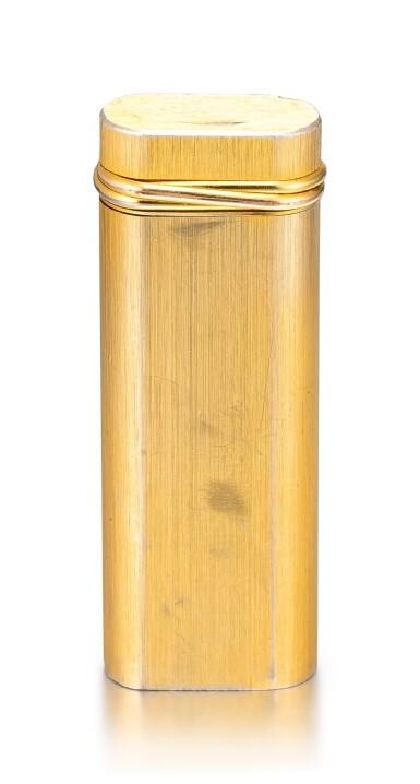 CARTIER | A GOLD PLATED LIGHTER, CIRCA 1990