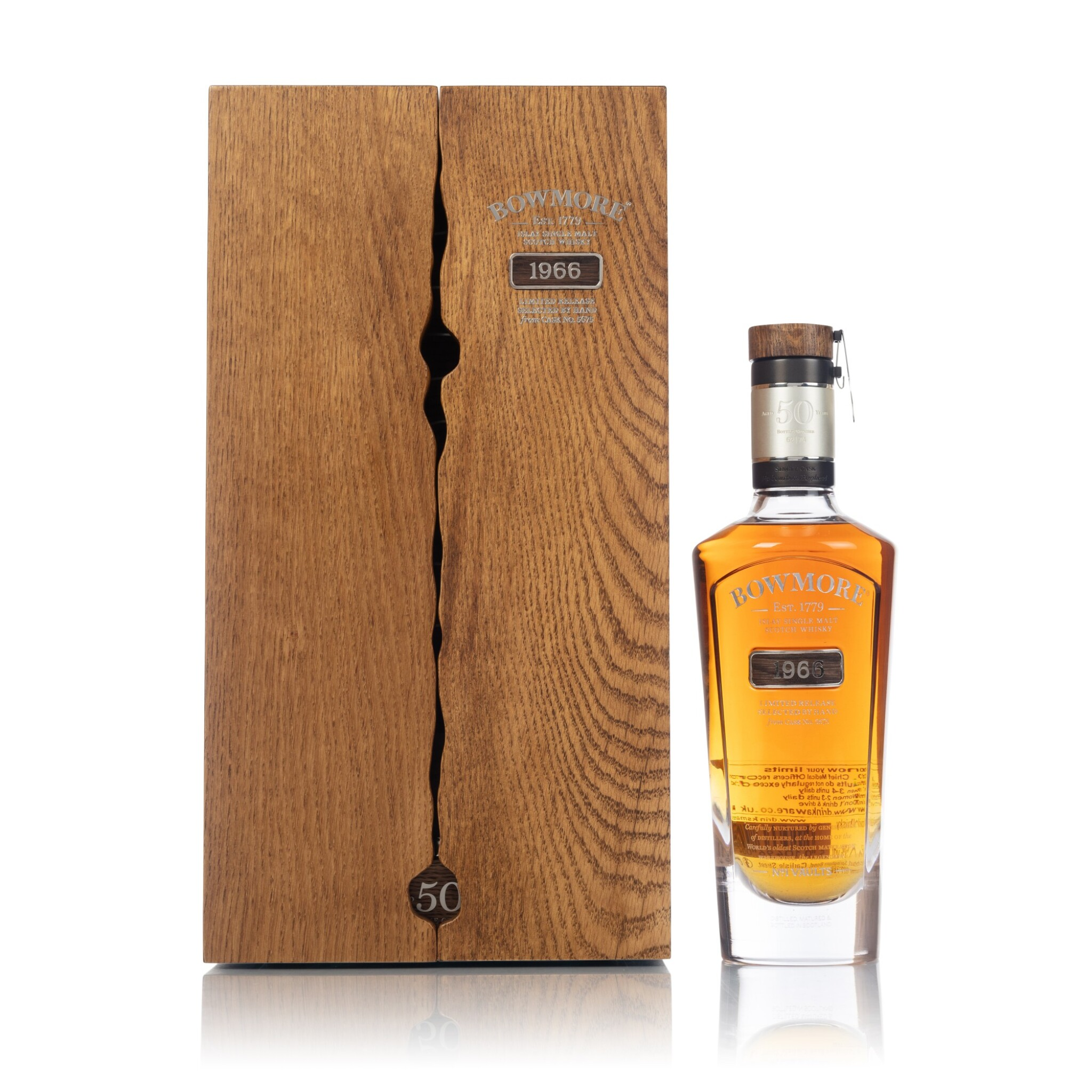 View full screen - View 1 of Lot 62. Bowmore 50 Year Old Number 1 Vaults 41.5 abv 1966 (1 BT70).