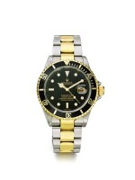 ROLEX | SUBMARINER REF 16613. A STAINLESS STEEL AND YELLOW GOLD AUTOMATIC CENTER SECONDS WRISTWATCH WITH DATE CIRCA 2000