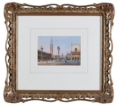 View 2. Thumbnail of Lot 541. CARLO GRUBACS   View of Piazza San Marco, Venice.