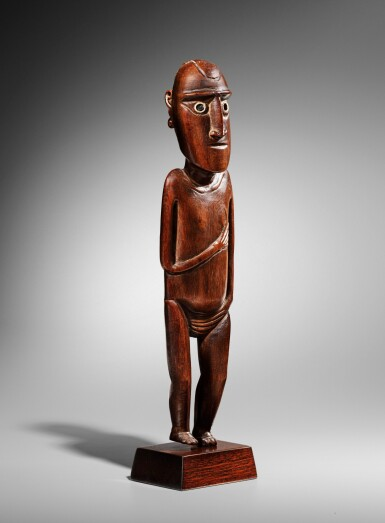 View 2. Thumbnail of Lot 64. Statue, Moai Papa, Île de Pâques | Moai Papa figure, Easter island.