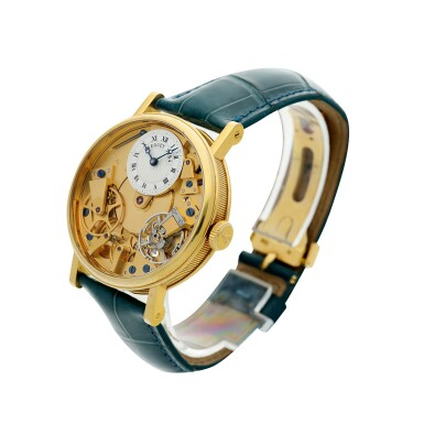 View 2. Thumbnail of Lot 88. REFERENCE 7027 LA TRADITION A YELLOW GOLD SEMI-SKELETONIZED WRISTWATCH WITH POWER RESERVE INDICATION, CIRCA 2005.