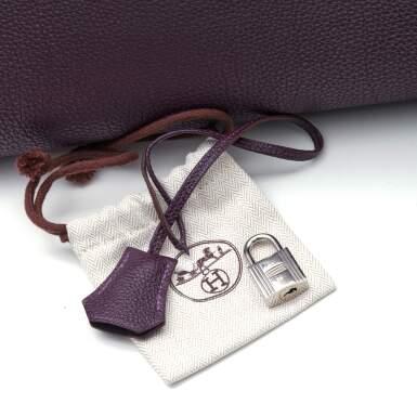 View 8. Thumbnail of Lot 367. Raisin Birkin 40cm in Togo Leather with Palladium Hardware, 2008.