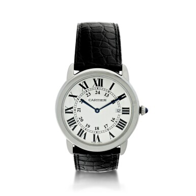 View 1. Thumbnail of Lot 116. CARTIER   REFERENCE 3603 RONDE SOLO DE CARTIER A STAINLESS STEEL WRISTWATCH WITH DATE, CIRCA 2016.