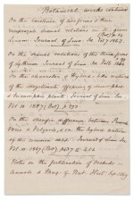 [DARWIN, CHARLES]   MANUSCRIPT LIST OF DARWIN'S PUBLICATIONS TO 1869, WITH AUTOGRAPH CORRECTIONS AND ADDITIONS IN HIS HAND