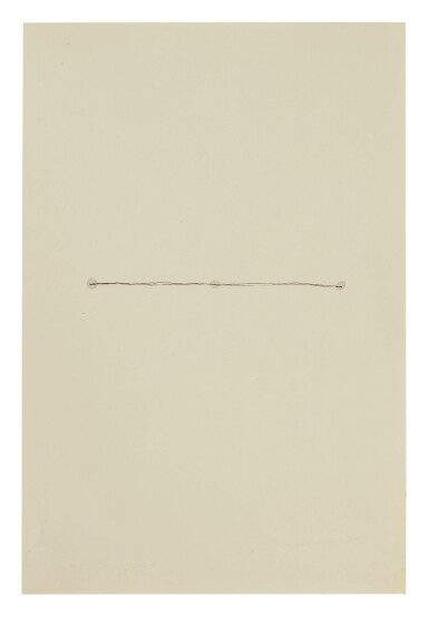 RICHARD TUTTLE | NO. 83 TWO BLACK LINES, THREE GRAY DOTS