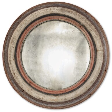 View 1. Thumbnail of Lot 1480. AMERICAN POLYCHROME-PAINTED PINE MIRROR, CIRCA 1940.