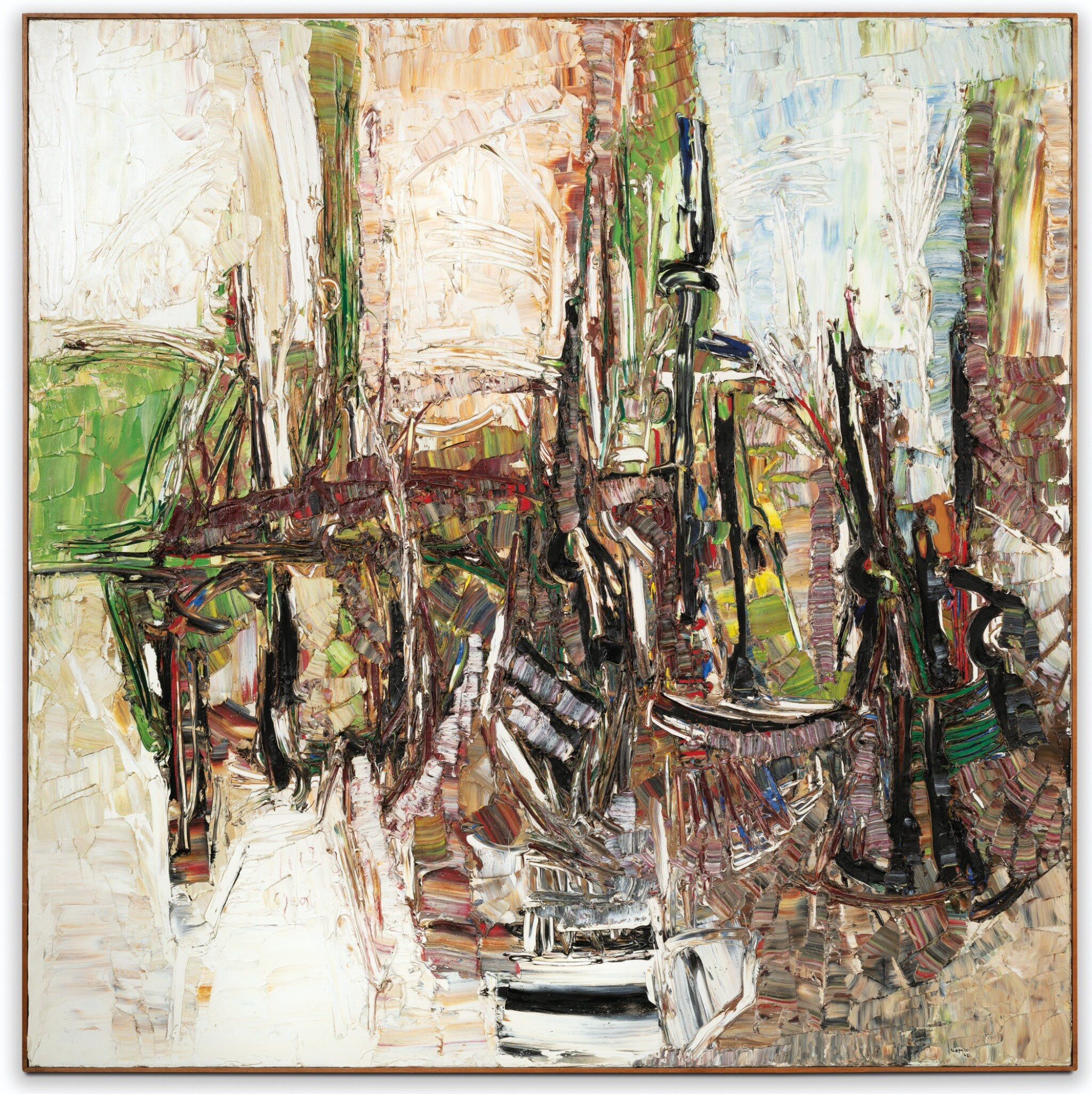 View full screen - View 1 of Lot 27. JEAN-PAUL RIOPELLE | COMPOSITION.