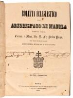 Philippines printing   Coleccion de Autos Acordados, 1861-1866  [and] Boletin Eclesiastico, 1883-86