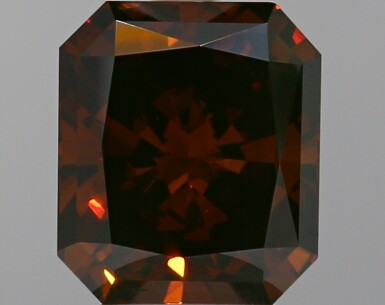 A 2.00 Carat Fancy Dark Orangy Brown Cut-Cornered Rectangular Diamond