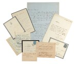 French Literature. Eight autograph letters etc George Sand, Dumas père, Scribe, Bernhardt, Zola and others