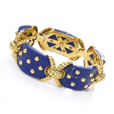 View 4. Thumbnail of Lot 623. Cartier | Gold and lapis lazuli bracelet, 1970s | 卡地亞 | 黃金鑲青金石手鏈,1970年代.