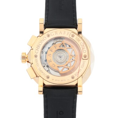 View 4. Thumbnail of Lot 402. CHRONOGRAFF, REF CG45PG LIMITED EDITION PINK GOLD CHRONOGRAPH WRISTWATCH WITH DATE CIRCA 2012.
