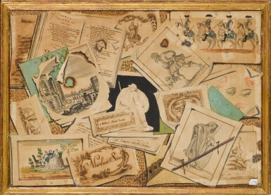 View 3. Thumbnail of Lot 35. TOMMASO CHIUSO |  A SET OF THREE TROMPE L'OEIL COMPOSITIONS.