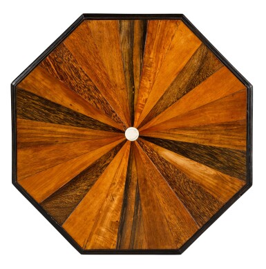 View 2. Thumbnail of Lot 136. AN ANGLO-SINGHALESE EBONY AND SPECIMEN WOOD TABLE, PROBABLY GALLE DISTRICT, SECOND HALF 19TH CENTURY.