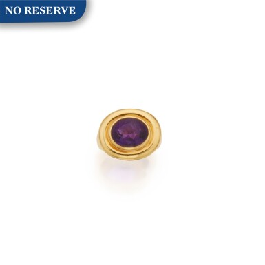 View 1. Thumbnail of Lot 307. Paloma Picasso for Tiffany & Co. | Gold and Amethyst Ring.