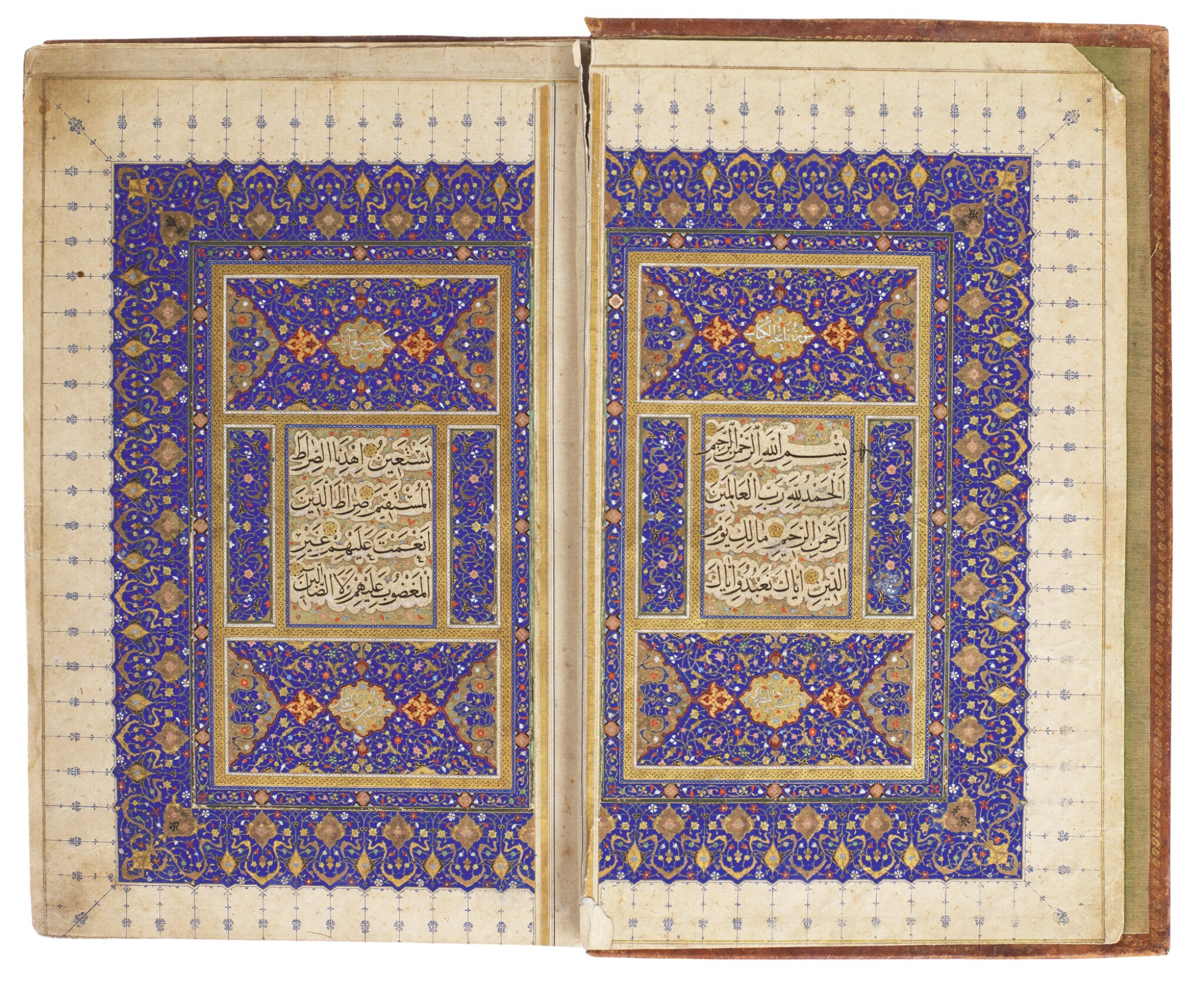 View full screen - View 1 of Lot 27. AN EXCEPTIONAL ILLUMINATED QUR'AN, PERSIA, SAFAVID, FIRST HALF 16TH CENTURY.