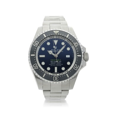 View 1. Thumbnail of Lot 96. REFERENCE 116660 DEEP-SEA A STAINLESS STEEL WRISTWATCH WITH DATE AND BRACELET, MADE TO COMMEMORATE JAMES CAMERON'S DEEPSEA CHALLENGE, CIRCA 2017.