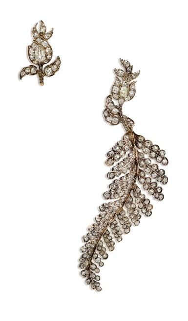 View 3. Thumbnail of Lot 1410. ELIANE FATTAL   'FERN' PAIR OF DIAMOND EARRINGS   Eliane Fattal   'Fern' 鑽石耳環一對.