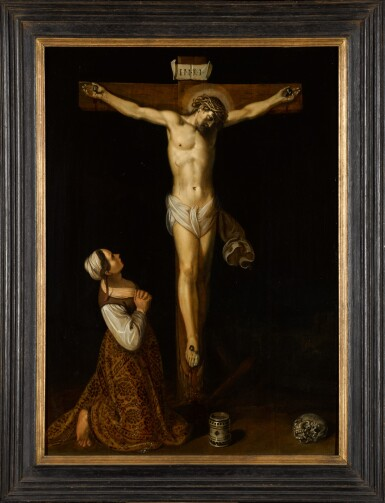 View 2. Thumbnail of Lot 17. JAN SYMONSZ. PYNAS | Mary Magdalene kneeling at the foot of the cross.