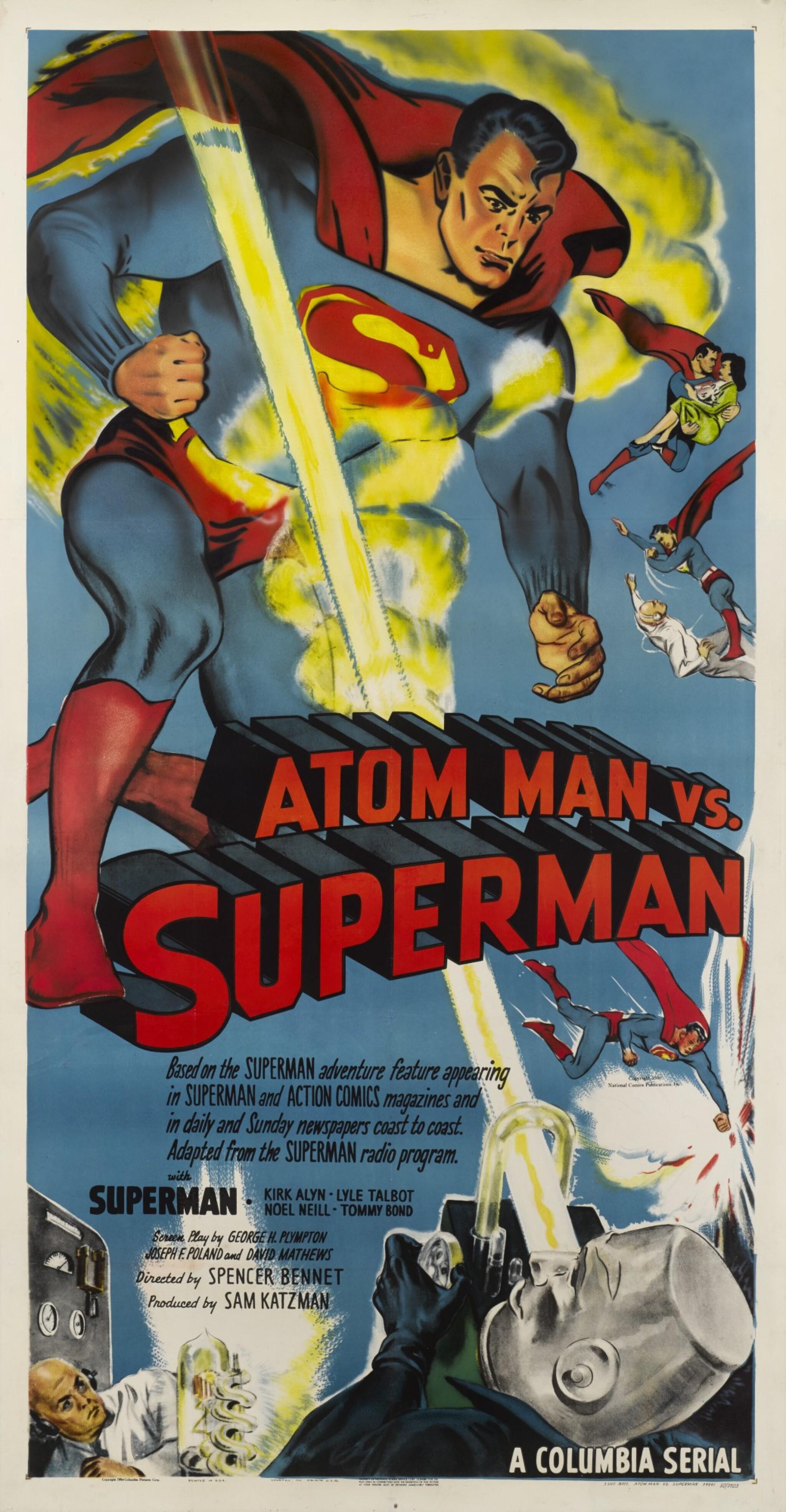 ATOM MAN VS. SUPERMAN (1950) POSTER, US