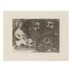 PABLO PICASSO   MARIE-THÉRÈSE EN IDOLE ET TROIS GRECS BARBUS (B. 216; BA. 416)
