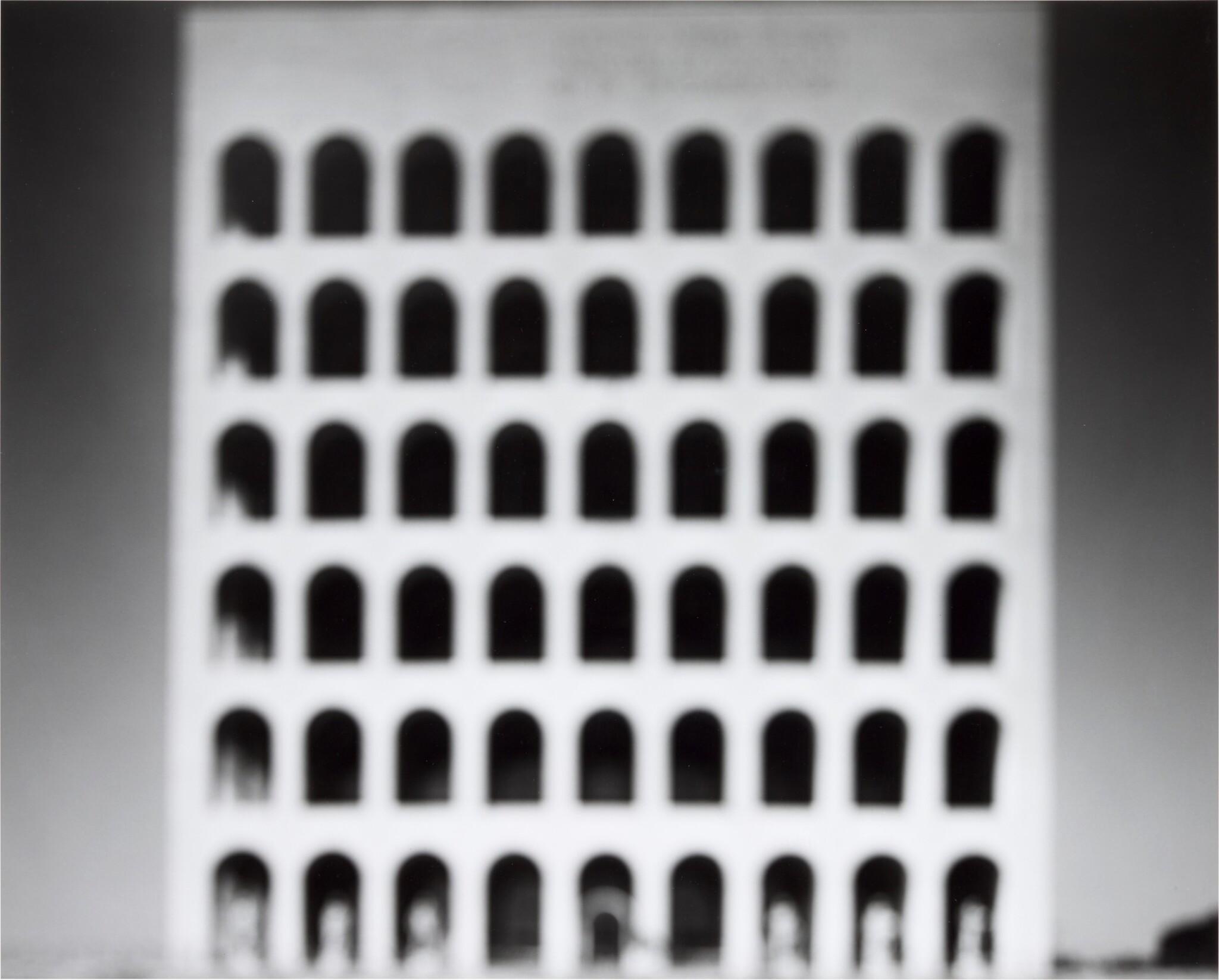 View full screen - View 1 of Lot 116. HIROSHI SUGIMOTO    'E. U. R. PALAZZO DELLA CIVILTÀ ITALIANA', (FROM THE SERIES ARCHITECTURE), 1998.