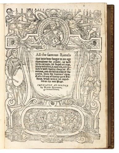 Appian of Alexandria, An auncient historie of the Romanes warres, London, 1578, later red morocco