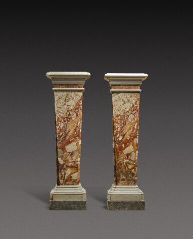 View 1. Thumbnail of Lot 141. Italian, Rome or Naples, 18th century | Pair of Pilaster Columns.