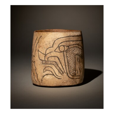 OLMEC INCISED BOWL OF A SUPERNATURAL,  MORELOS REGION EARLY PRECLASSIC, CIRCA 1200-900 BC