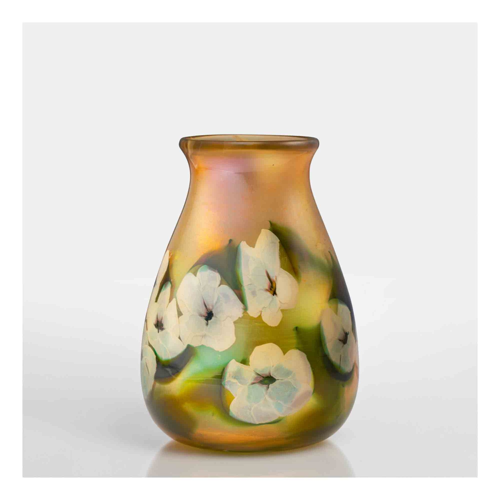 """View full screen - View 1 of Lot 511. """"Morning Glory"""" Paperweight Vase."""