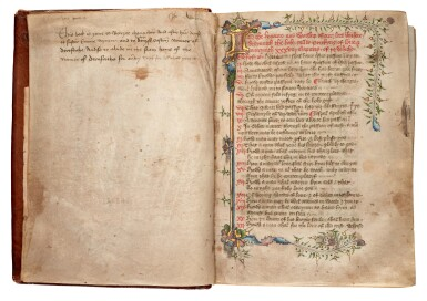 View 1. Thumbnail of Lot 1. JAMES OF MILAN | Pricking of love, illuminated manuscript in Middle English [England, fifteenth century].