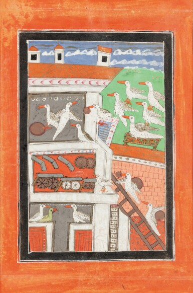 View 7. Thumbnail of Lot 37. RAJASTHAN, LATE 18TH CENTURY AND 19TH CENTURY | SIX INDIAN MINIATURES.